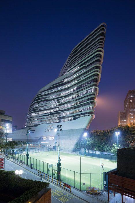 Zaha Hadid's Hong Kong Innovation Tower laid bare in new movie and photographs