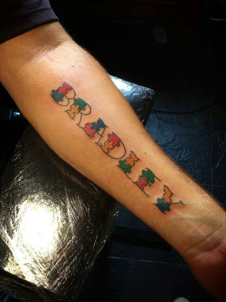 Puzzle piece letters | tattoos | Pinterest | Ideas, Tattoo ideas ...