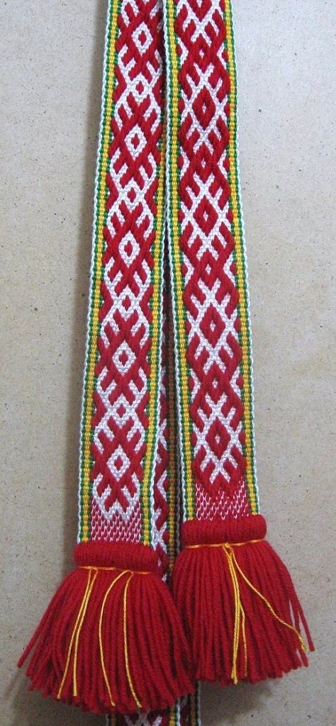 Russian traditional belt. Modern work according to the fashion of the 19th century. #Russia #folk #costume