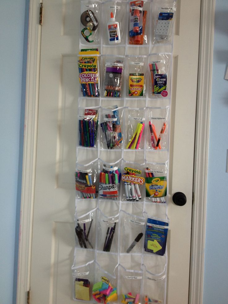 vertical organizing always saves space this office
