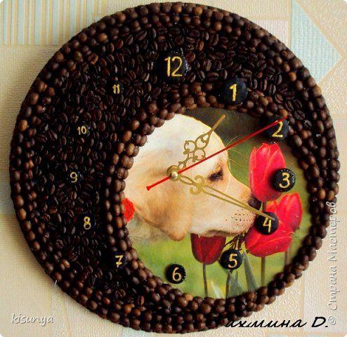 Декор предметов 8 марта День учителя Декупаж Продолжаю творить  И снова часы   Гуашь Диски виниловые Кофе фото 2