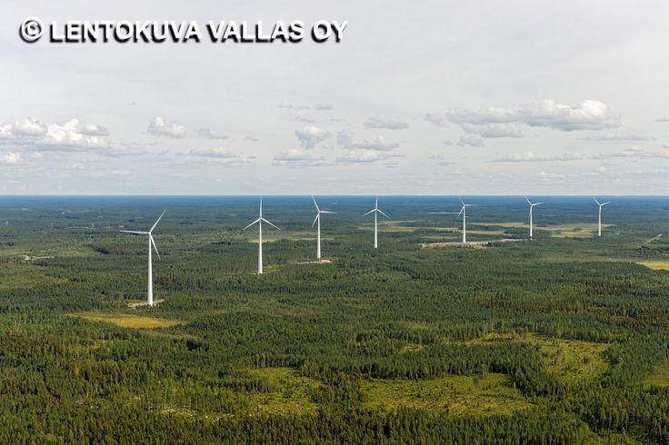Raahen tuulipuisto, Ilmakuva: Lentokuva Vallas Oy