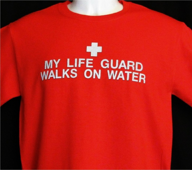 Peace Be With U - Christian Store - My Life Guard Walks On Water - Christian Shirt, $17.99 (http://www.peacebewithu.com/my-life-guard-walks-on-water-christian-shirt/)