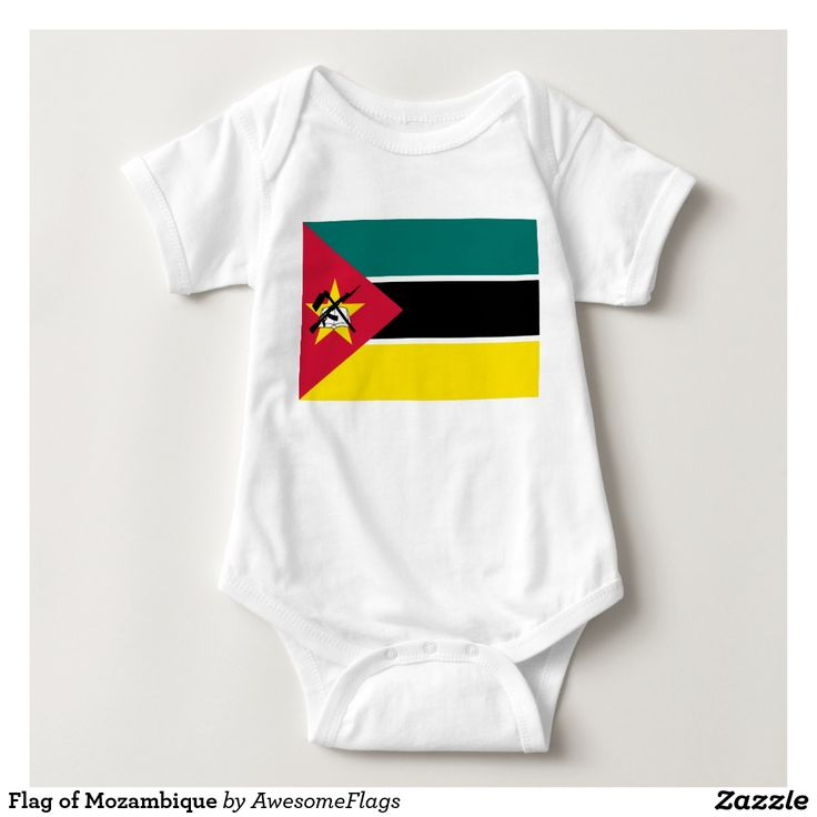 Flag of Mozambique Baby Bodysuit