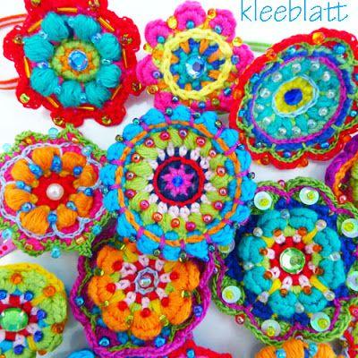 #colorful #crochet #mandala
