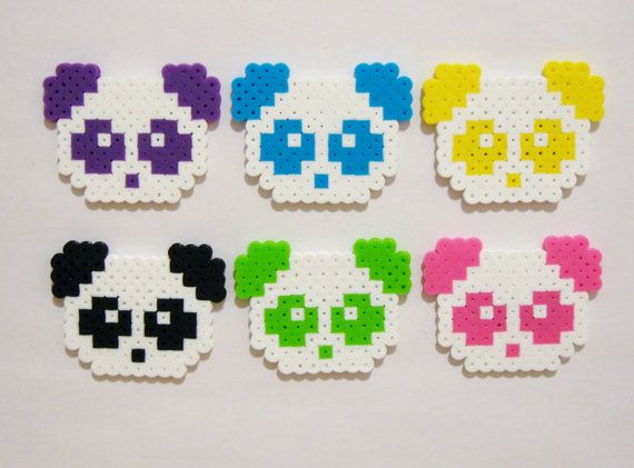6pc PANDAS MAGNET SET // Kawaii Animals by RainbowMoonShop on Etsy