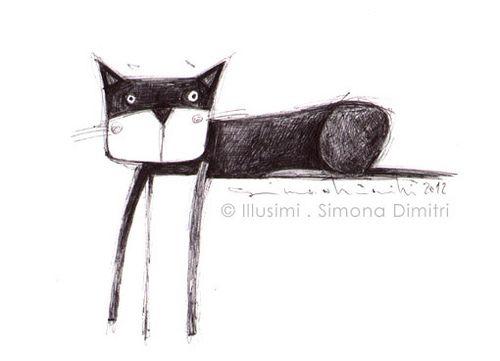 last night sketch… by illusimi – Love love love this cat!!!