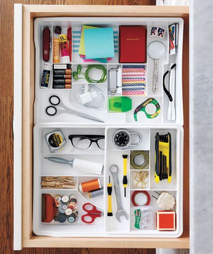 Organization Ideas For Junk Drawers: 352 Best Images About Storage Ideas On Pinterest