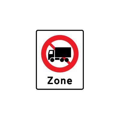 Zone med lastbil forbudt E 68,5