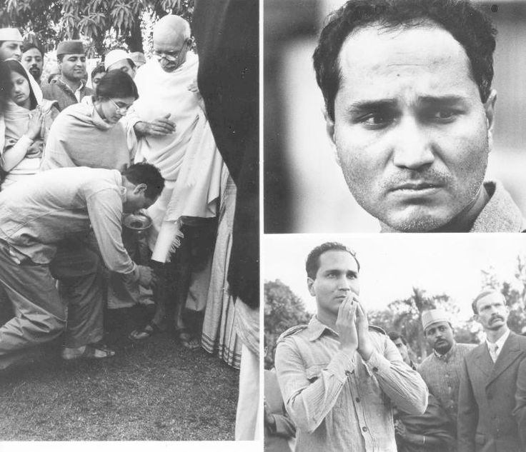 48. The Infamous Assassination of Mahatma Gandhi - This photo was taken just before he was shot by the man, Nathuram Godse, touching his feet. January 30, 1948, India