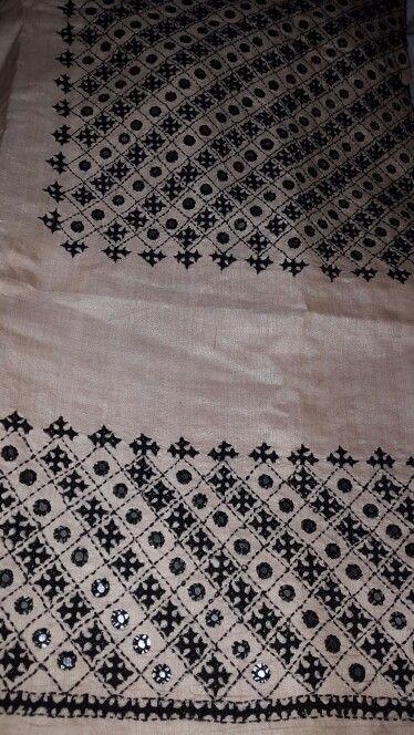 My kutch embroidered saree