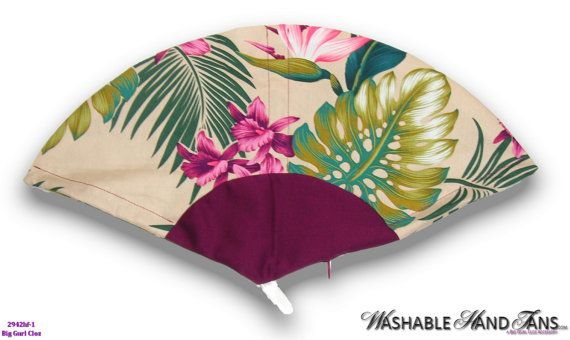 Washable Hand Held Fan Traditional Pink & by WashableHandFans