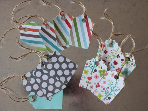 Assorted Gift Tags 12 Pack by LYHHandmadeGifts on Etsy