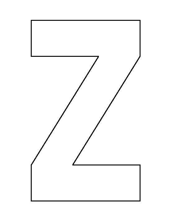 Letter Z pattern. Use the printable outline for crafts, creating stencils, scrapbooking, and more. Free PDF template to download and print at http://patternuniverse.com/download/letter-z-pattern/