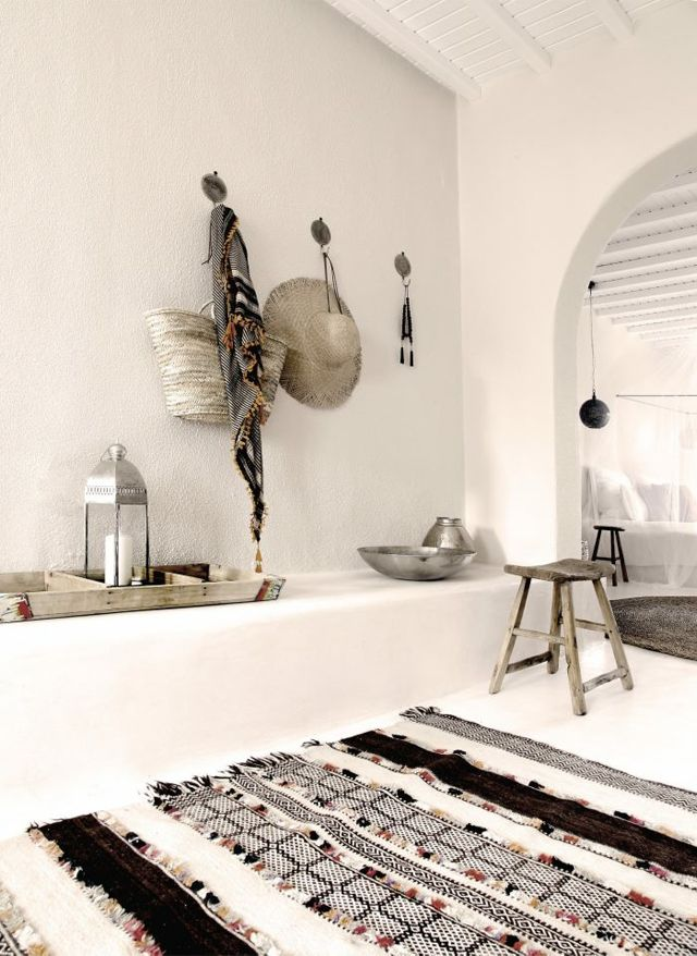 A Bohemian LifeMykonos Greece, Design Interiors, White Interiors, Rugs, Greek Islands, San Giorgio, White Wall, Modern Bedrooms, Design Hotels