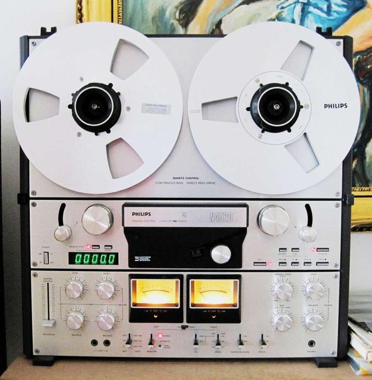 Magnétophone Tape Recorder Philips - www.remix-numerisation.fr - Numérisation de bande magnétique audio - Restauration Audio