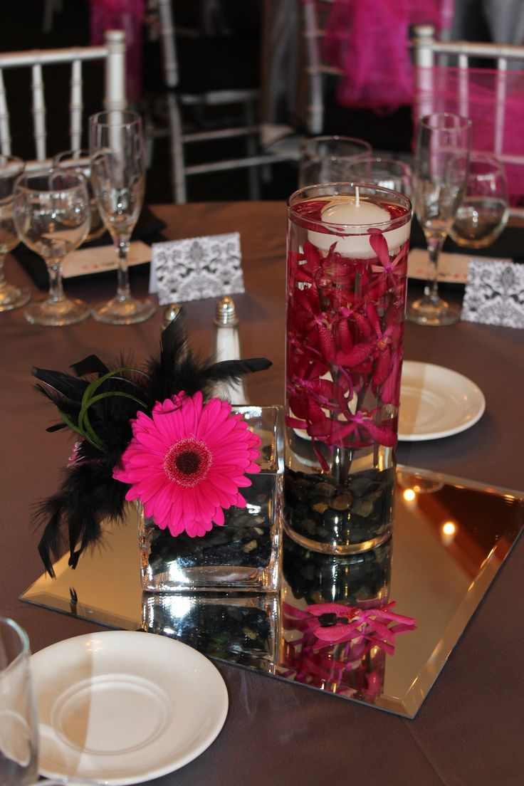 Hot pink and black wedding hotpinkandblackflowers