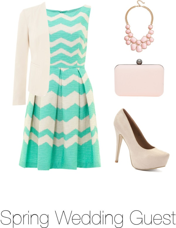 """Dress Code #3: Spring Wedding Guest"" by alice-brazier on Polyvore"