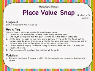 Place Value Snap!