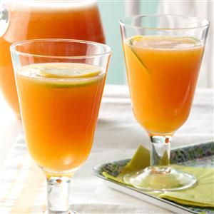 Sparkling Punch Recipe -As a table brightener, fix a bowl of festive fruity punch—it's a refreshing beverage you can mix together in moments. To dress it up even more, I add an ice ring filled with oranges, lemons and cranberries. —Karen Ann Bland, Gove, Kansas