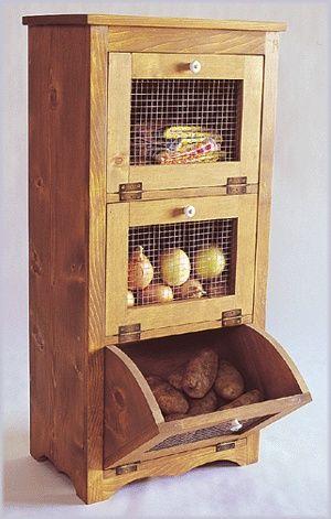 Woodworking Paper Plans Potato Storage Vegetable Bin | eBay DIY
