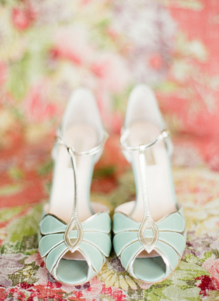 mint wedding shoes available at BHLDN
