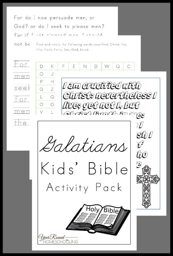 Galatians Kids' Bible Activity Pack - By Year Round Homeschooling