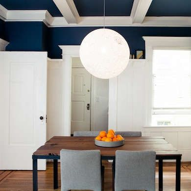 Navy Blue Painted Ceiling