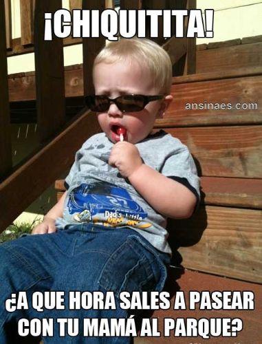 #funny, Memes de bebes - Chiquitita a que hora sales a pasear