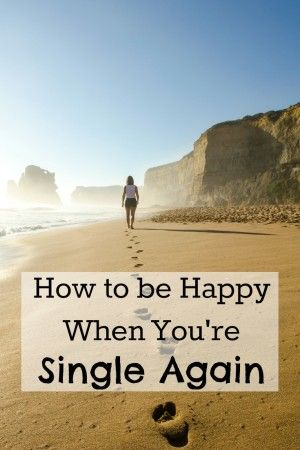 How to heal after a divorce or break-up and be happy when you're single again. Don't get stuck in the past, happiness and joy is just around the corner!