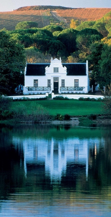 Wine country in The Cape, great example of Cape Dutch architecture. So beautiful!