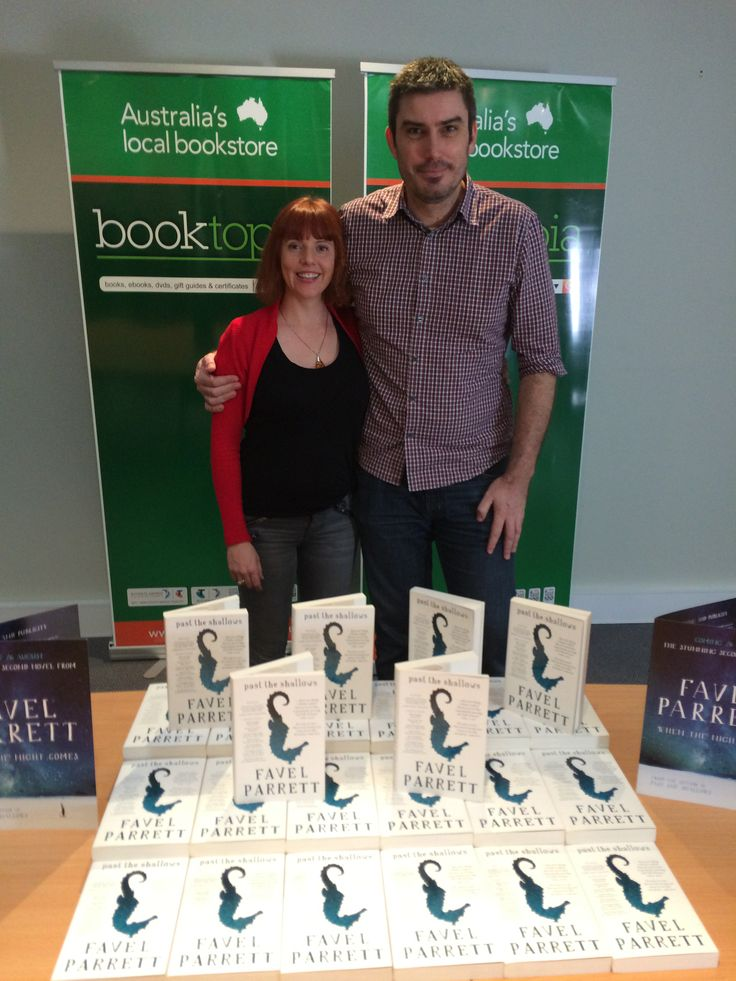 The wonderful Favel Parrett and Booktopia's John Purcell #WhenTheNightComes