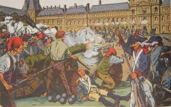 les parisiens attaquent le château des Tuileries - 10 Aout 1792