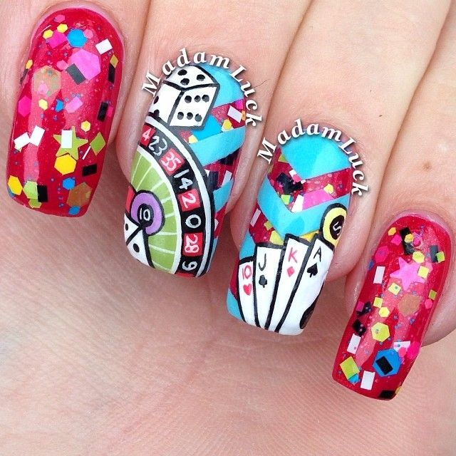 38 best casino nails images on Pinterest | Playing cards, Game cards ...