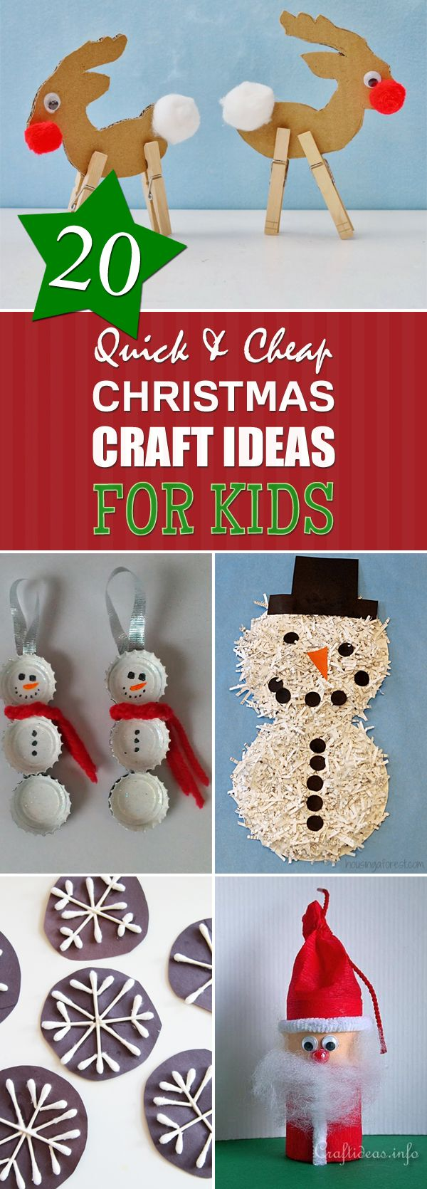 1000 ideas about cheap christmas decorations on pinterest for Inexpensive crafts for kids