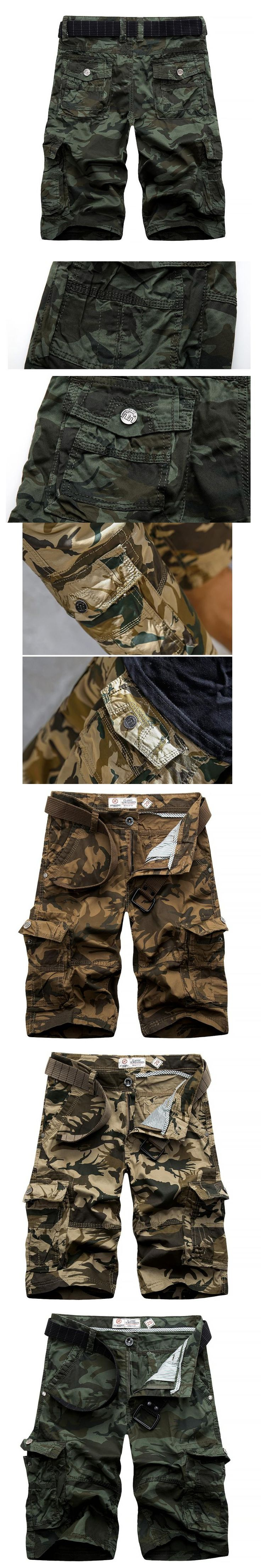 2017 summer men's cargo shorts casual beach work shorts overall bermuda masculina camouflage trousers 29-38 CYG230