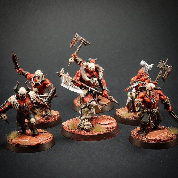 Age of Sigmar | Khorne Bloodbound | Slaughtepriest and Bloodreavers by…