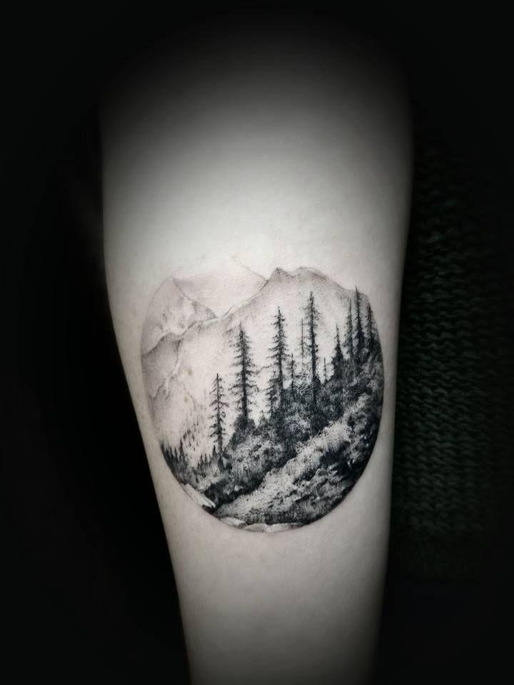Chronic Ink Tattoo - Toronto Tattoo  Small landscape tattoo done by David.
