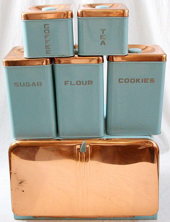 Lincoln Beautyware Küche Kanister Set 6 Türkis von YardSaleYuppie