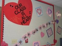 Valentine's Day and february bulletin board idea