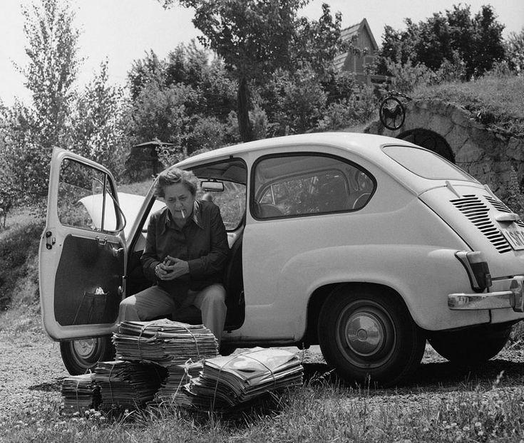 Gobbi Hilda színmûvésznõ dunabogdányi nyaralójában, 1973 Fotó: Keleti Éva