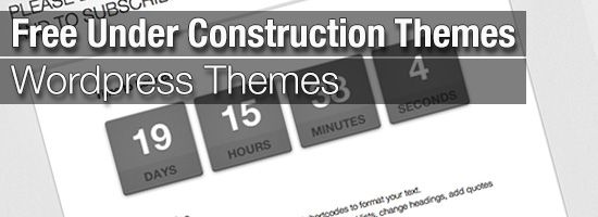 how to put wordpress under construction