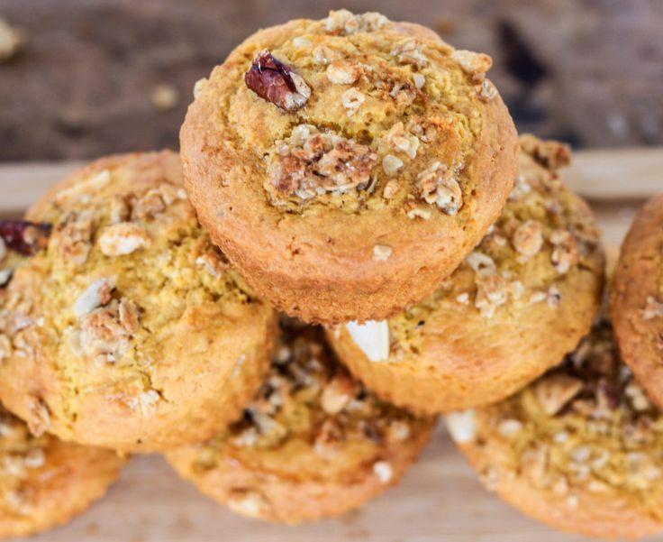 Muffins integrales de calabaza aromatizados con vainilla