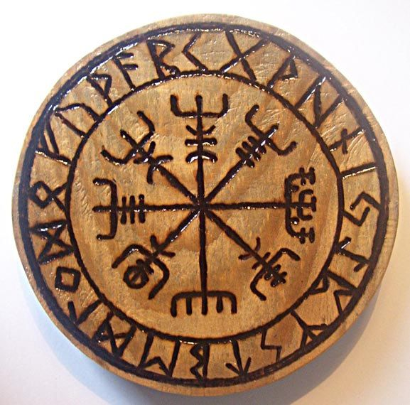 viking compass with large runes model by atelierjackderohan on Etsy https://www.etsy.com/listing/264450060/viking-compass-with-large-runes-model