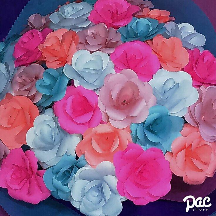 Rose paper flowers   #paperflowers