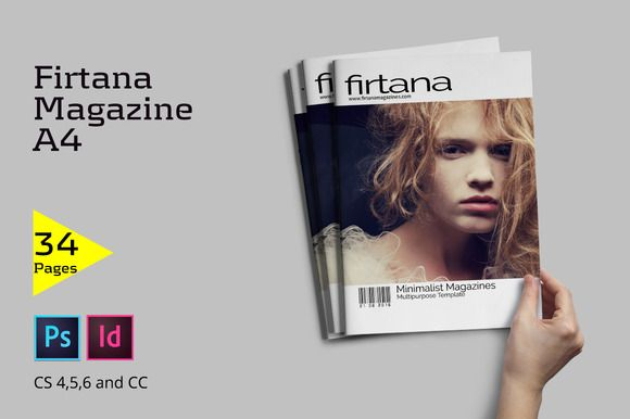 A4 Minimal Magazine by Firtana on @creativemarket