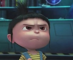 Despicable Me - Agnes. I see this look a lot at the daycare