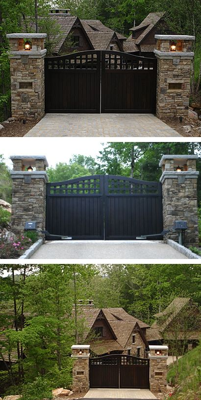 Portland Collection Compound Archtop Driveway Gate by Pacific Gate Works -- this is one of my favorites.  On my next estate.
