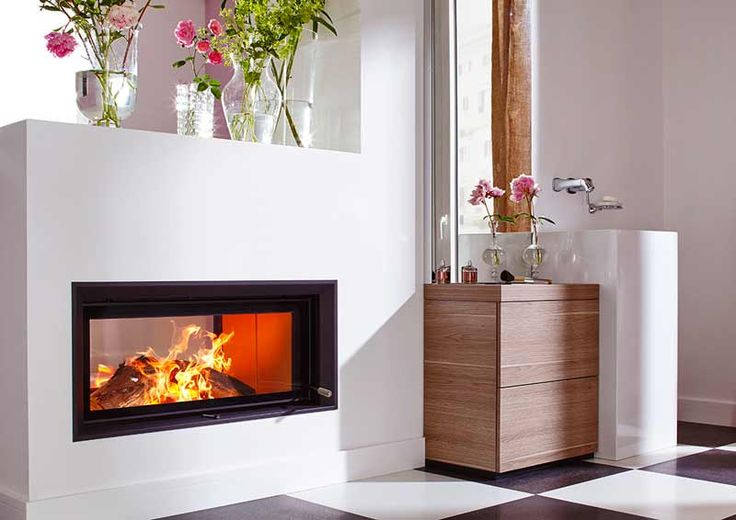 Architecture- fireplace inserts by Brunner