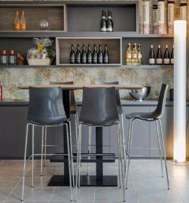 Zebra Bar Stool by Impaczone http://www.impaczone.com/products/13/Zebra-Bar-Stool-Anthracite-650H2